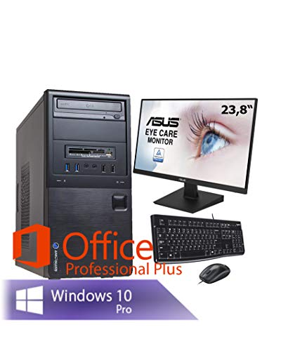 Ankermann Office komplett PC Büro PC Intel i5 4570 4X 3.20GHz HD Graphic 8GB RAM 240GB SSD 1TB HDD Windows 10 PRO W-LAN Office Professional ASUS TFT 23.8
