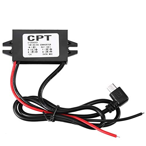 Swiftswan Car Vehicles CPT UL5 Universal DC DC Converter Module 12V To 5V 3A 15W With Double USB Output Power Adapter