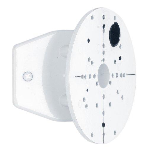 EGLO Außenstrahler Eckanbindung, Eckhalterung aus Stahl für Außenlampen, Ø: 11,2 cm, Farbe: weiß