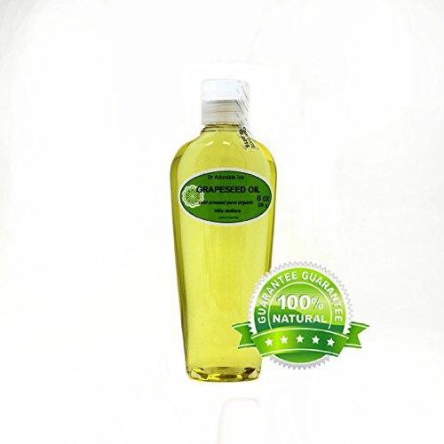 Grapeseed Oil Pure Organic Care 8 Oz