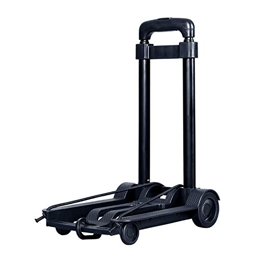 Folding Hand Truck, Lightweight Folding Hand Truck Portable Luggage Cart 4 Wheeled Shopping Trolley for Personal Moving Travel And Shopping Can Hold 35 Kg