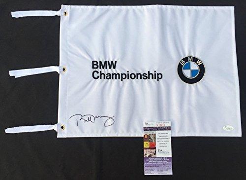 BILL MURRAY SIGNED BMW CHAMPIONSHIP FLAG CADDY SHACK GROUNDHOG DAY JSA K68