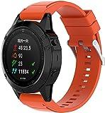 Gransho Correa de Reloj Recambios Correa Relojes Caucho Compatible con Garmin Fenix 6X Pro/Fenix 6X Sapphire/Fenix 3 / Fenix 5X Plus/5X Sapphire - Silicona Correa Reloj con Hebilla (Pattern 3)