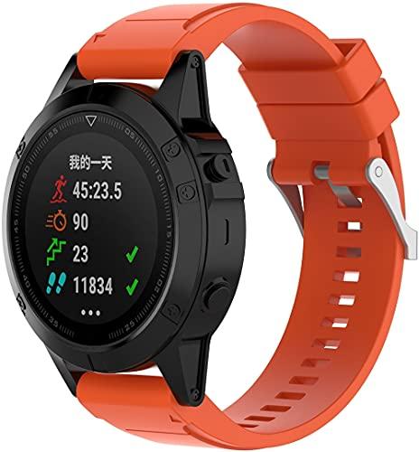 Chainfo Compatible con Garmin Fenix 6X Pro/Fenix 6X Sapphire/Fenix 3 / Fenix 5X Plus/5X Sapphire Correa de Reloj, Banda de Reemplazo Silicona Suave Sports Pulsera (Pattern 3)