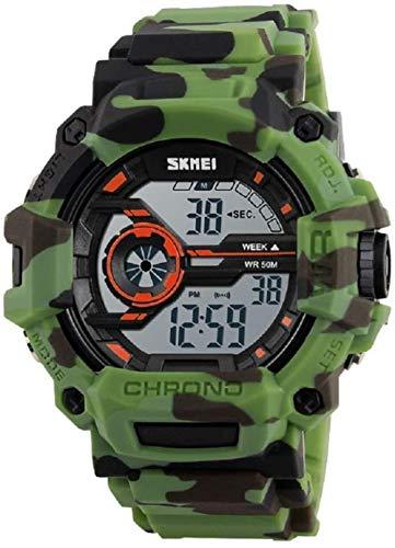 SGHH-Reino Unido Reloj Militar for Hombre Reloj Deportivo Digital Resistente al Agua Luz de Fondo del Camuflaje del ejército Hombres, Chico (Color : D)