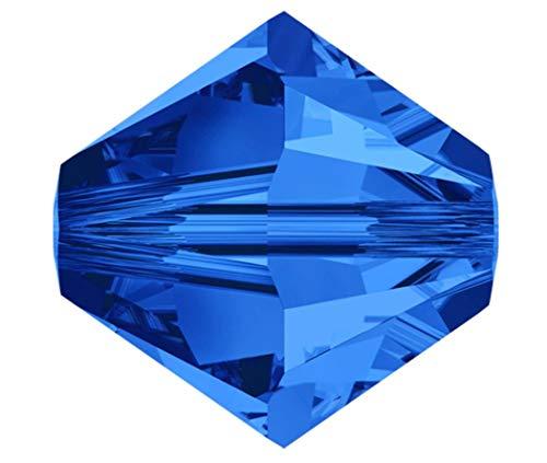 25pcs 8mm Swarovski Crystals 5328 Xilion Bicone Crystal Beads for Jewelry Craft Making (Sapphire) SWA-B813