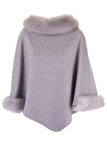 Max Mara Luxury Fashion Damen WSKIT110888009 Grau Kaschmir Poncho | Herbst Winter 19