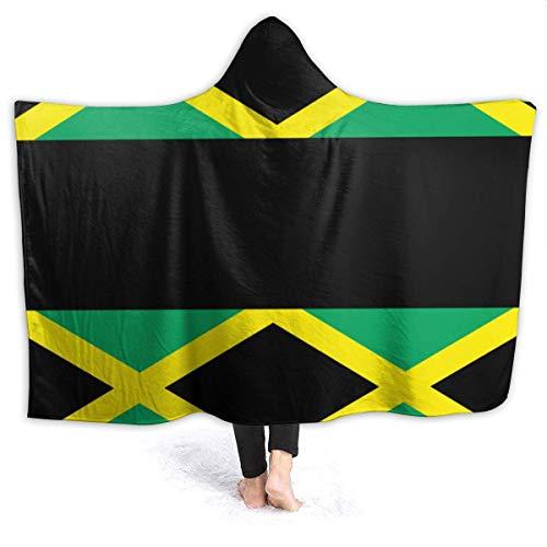 Manta de microfibra ultrasuave 695 UNKEY Super suave, resistente a las arrugas, cálida, hipoalergénica, lavable, para sofá o cama, bandera de Jamaica, 127 x 101,6 cm