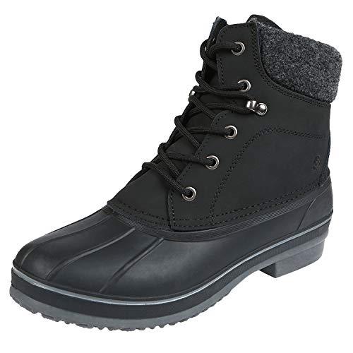 Northside Men's Braedon Winter Snow Boot, Black, 11 M US
