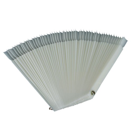 ReNext 50 Pcs White Fan-shaped False Fake Nail Art Tips Sticks Polish Gel Salon Display Chart Practice Tool