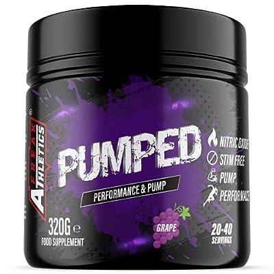 Pumped 'Grape Candy' Pump Pre Workout by Freak Athletics - Non Stim Pre Workout Powder Stimulant & Caffeine Free Pre Workout