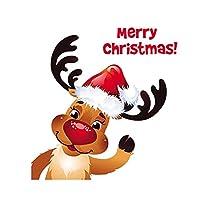 LZHLMCL パッチ衣類アップリケクリスマス鹿伝熱ステッカー男性と女性の服