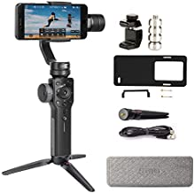 Zhiyun Smooth 4 3-Axis Smartphone Gimbal Stabilizer for iPhone 11 PRO XS Max XR X 8 Plus 7 6 SE Android Phone Filming Vlog Youtuber Live Video Record(Plate Adapter for Gopro/Counterweight Included)