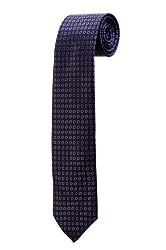 Cravate noire avec des motif ronds violet DESIGN costume homme mariage cérémonie