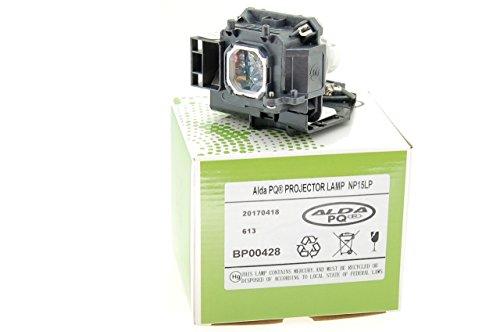 Alda PQ-Premium, Lámpara de proyector Compatible con NP15LP, 60003121 para NEC M230X, M230X+, M260W, M260W+, M260X, M260XC, M260XS, M260XSG, M271W, M271W+ Proyectores, lámpara con Carcasa