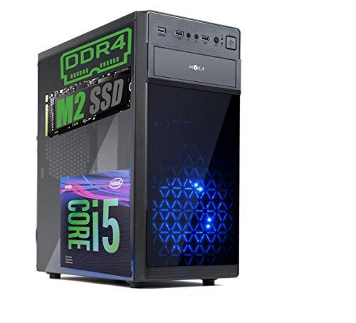 Pc Desktop INTEL I5 SIX CORE 9th gen Up To TURBO 4,1 GHZ Windows 10 PRO 64 BIT ORIGINALE CASE ATX USB 3.0 PSU 600W RAM 8GB DDR4 SSD M2 512GB Scheda Video UHD 4K USCITE HDMI DVI VGA WIFI 300MB DVD