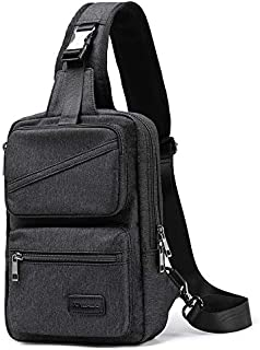 XINCADA Sling Bag Man Purse Crossbody Shoulder Bag Messenger Bags Small Travel Backpack Chest Pack for Men and Women (Black)