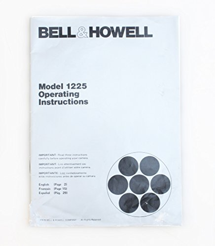 BELL AND HOWELL 1225 SUPER 8 MOVIE CAMERA MANUAL