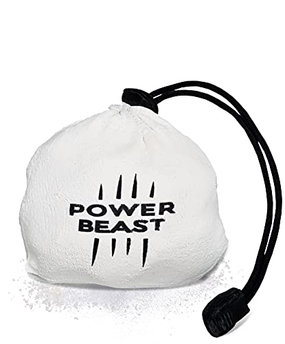 Power Beast Bola Tiza de Magnesio Rellenable 60 gr, Chalk Ball, Bolas Magnesio, Reutilizable, Crossfit, Escalada, Halterofilia, Poledance, Baile en Barra, Padel, Tenis, Calistenia.