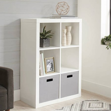 South Shore Axess 5-Shelf Narrow Bookcase-Pure White