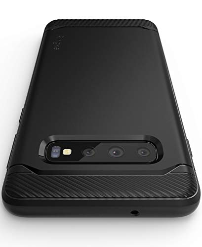 """Ringke [Onyx] Compatible with Galaxy S10 (6.1"""") Case [Extreme Tough] Compatible Rugged Flexible Protection Durable Anti-Slip TPU Heavy Impact Shock Absorbent Case for Galaxy S10 (2019) - Black"""