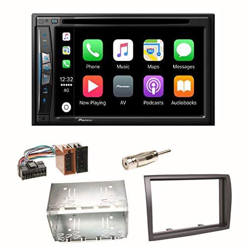 Pioneer AVIC-Z610BT Navigation CarPlay USB CD DVD Bluetooth MP3 WMA Autoradio 2-DIN Naviceiver Einbauset für FIAT Ducato Boxer Jumper