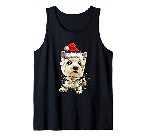 West Highland Terrier Navidad Regalo X-Mas Amor De Perro Camiseta sin Mangas