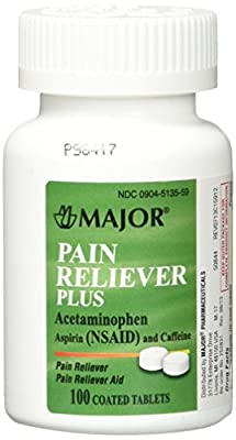 Pain Reliever Plus Tablets, 100/bottle 1 Each Category Tree: Over-The-Counter Drugs > Pain Relievers > Pain Reliever Plus (Excedrin) > >