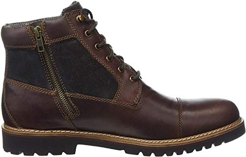 Rockport Classic Boots, Marshall Rugged Cap Toe Boot Men, Brown, 8 UK