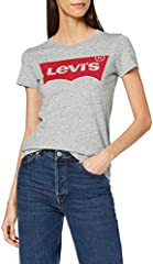 Levi's The Perfect tee - Camiseta Manga Corta Mujer Gris - Better Batwing