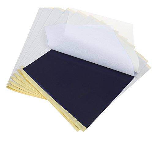 10pcs Papier Transfert de Tatouage au Pochoir Papier Transfert de Carbone