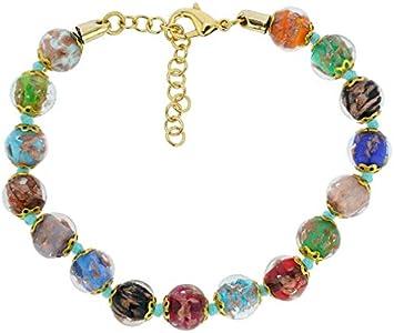 GlassOfVenice Pulsera Sommerso de cristal de Murano, multicolor