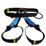 RZH Arnés de Escalada Asiento de Seguridad, Cinturón de Busto Sentado para Escalada Tallado Montañismo Rescate de Incendios Rappelling Arbol,Azul