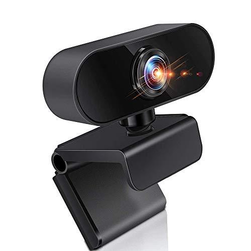 LIUDOU Webcam con Micrófono, Cámara De Vídeo De 1080P con Webcam De La Computadora del Micrófono USB para PC Videoconferencia/Llamada/Juego, El Ordenador Portátil/De Escritorio Mac
