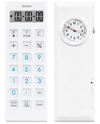 dretec(ドリテック) ナースウォッチ付き 電卓タイマー 計算機 バイブレーション機能 消音 操作音なし ストラップ付 CL-128WTDI