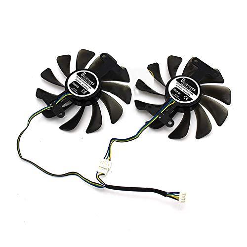 HUAYUWA Universeller GPU-Kühler für Grafikkarten, Durchmesser 95 mm, passend für ZOTAC GeForce GTX 1080 1070 AMP Edition Zubehör
