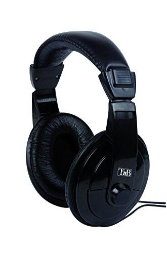 T'nB Auriculares Diadema HiFi - con Cable Extra Largo de 8