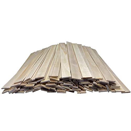 50 Stück Holzspatel Rührstäbchen Rührhölzer 30cm zum rühren von Epoxy, Lacke, Farben usw. Bastelholz