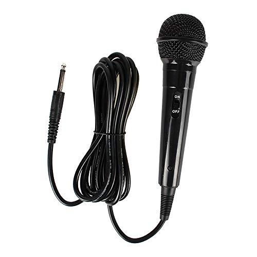 HWL Karaoke Microfoons, Professionele Dynamic Cardioid Vocal Bedraad Microfoon met Afneembare Kabel En AAN/UIT Schakelaar Metalen Koord Mic Plug En Spelen