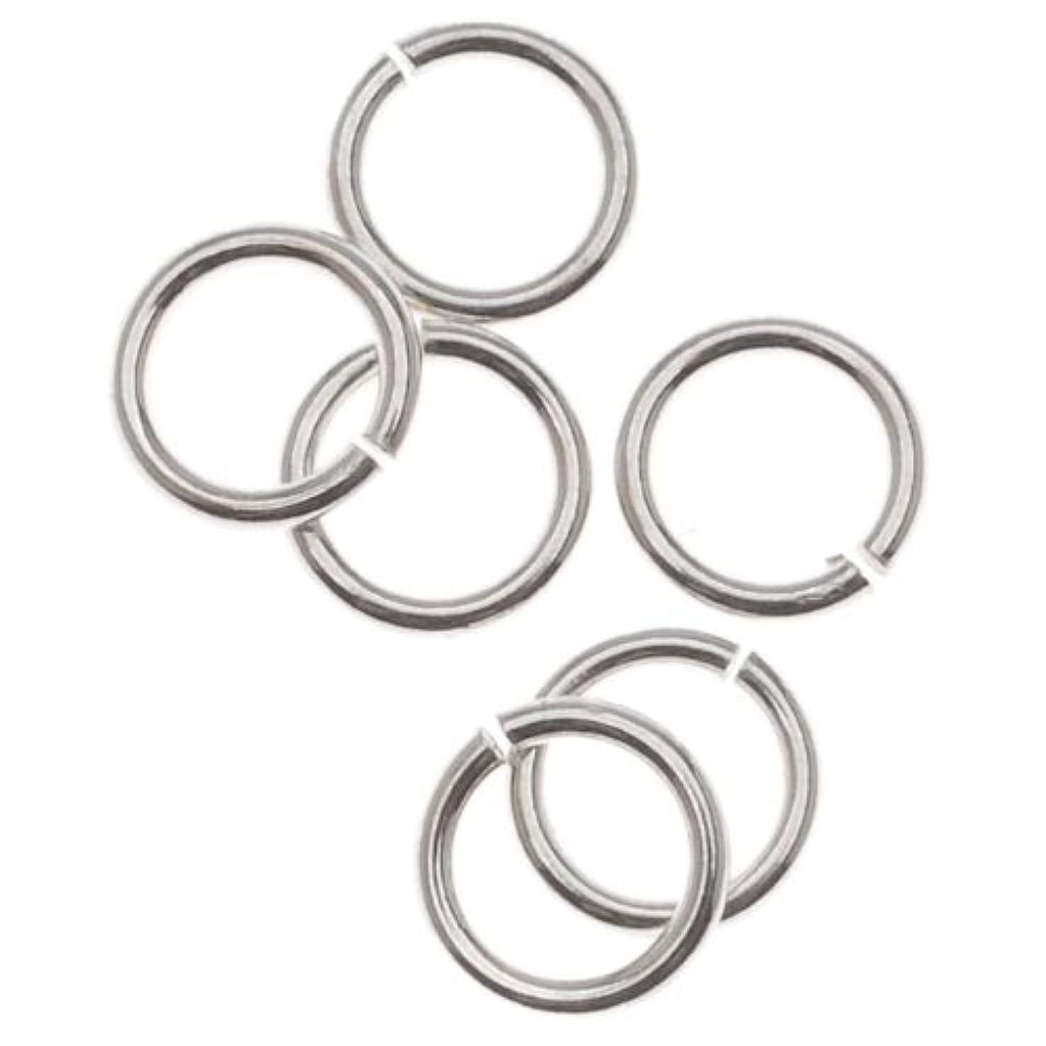 Beadaholique SS/JR28/5 10-Piece Sterling Open Jump Rings, 5mm, 21-Gauge, Silver