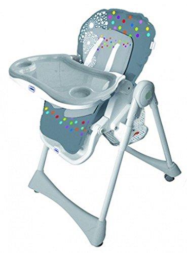 Chaise haute pliante évolutive Baby Fox Grise