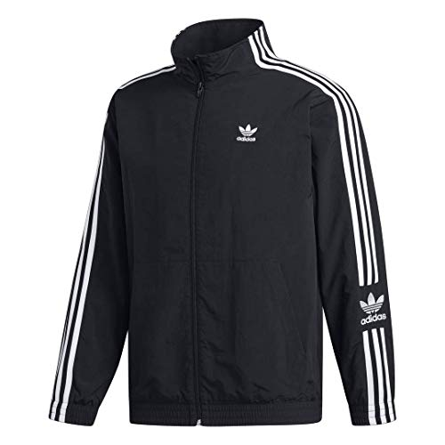 adidas Originals Men's Lock Up Track Top Jacket, black, Small