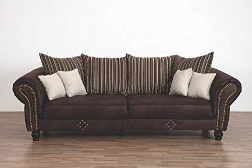 RASANTI Big Sofa inkl. 4 große + 4 kleine Kissen Carlos von Matex Dunkelbraun