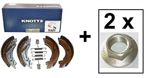 FKAnhängerteile Knott Bremsbacken 200x50 Knott Nr. 47276 für 1 Achse + 2 x Knott Flanschmutter