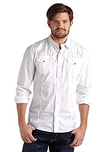Avec broderies chemise pour homme de la marque john à motif