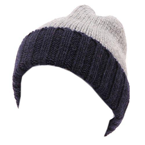 Catya 4315U cuffia bimbo grigio blu lana hat wool kid [III/37 CM]