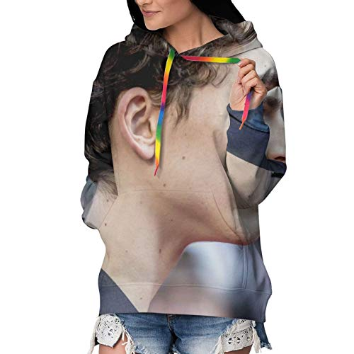 Nsafinhwv Tim-Othée Chalamet - Sudadera con capucha para mujer, diseño de Navidad y Halloween, color negro