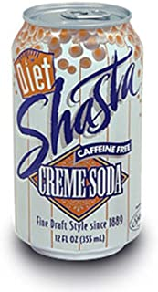 Shasta Diet Creme Soda, 12-Ounce Cans (Pack of 24)