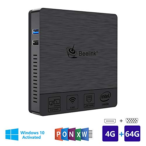 Beelink BT3Pro Multi Media Desktop Full 4K HD H.265 Smart Mini PC Intel Atom x5-Z8350 Processor 4GB+64G / 4K / 1000Mbps LAN/HDMI/VGA / 2.4G+5.8G Dual WiFi