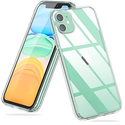 UNBREAKcable Cover per iPhone 11 - [Anti Graffio & Anti Ingiallimento] Custodia iPhone 11, Soft TPU Bumper, Resistente Anti-Bolla & Case di Copertura Rigida per iPhone 11 6.1 Pollici - Trasparente